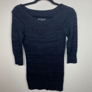 AX Armani exchange knit sweater dress tunic xs